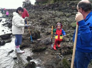 clamming kid