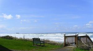 bench ocean